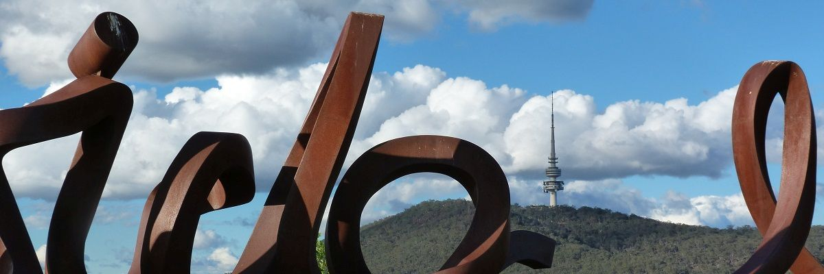 View of Black Mountain Tower from the Arboretum Australian National Territor