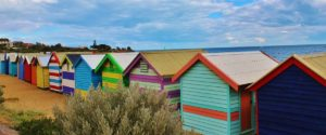 Image showing colourfull beach huts