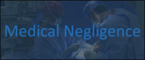 Medical Negligence - overlaying an operating theatre