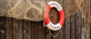Life buoy and fishing net