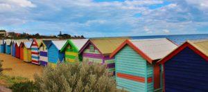colourful houses on the beach