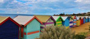 Colourfull beach huts