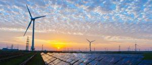 electricity solar wind sunset