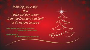 Xmas message and office hours