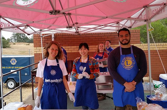 Elringtons staff assist at Lions Club RFS breakfast in Queanbeyan NSW