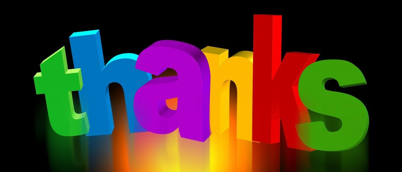 Thank you - Image by Gerd Altmann from Pixabay