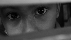 Sad eyes of a child