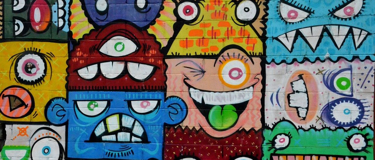 Street Art Angry faces - Image by teetasse from Pixabay