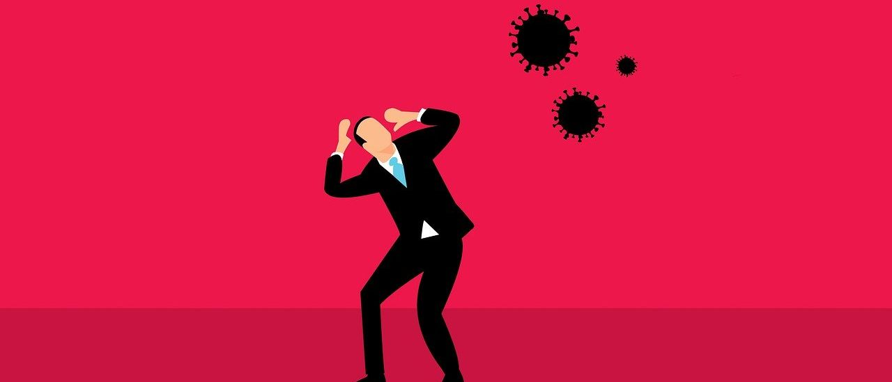 Corona virus and business man - Image by mohamed Hassan from Pixabay