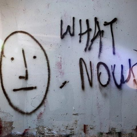 What now written on wall